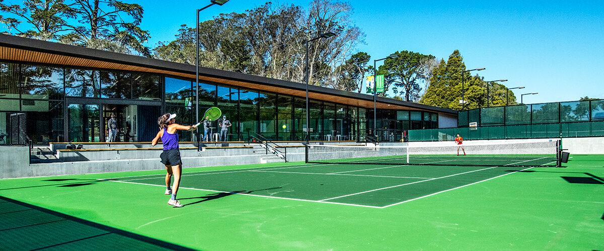 Players at Goldman Tennis Center
